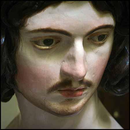 Los dos bustos de Adán y Eva, de tamaño mayor que el natural (O'64 m.), que talla Cano en madera para los tondos de la Capilla Mayor de la Catedral, ... - alonso_cano_adan_cat_granada