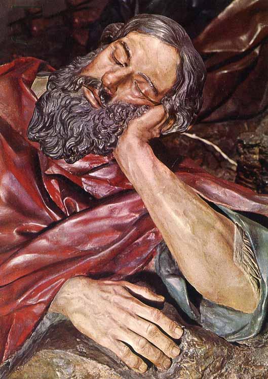 Oración del huerto. Salzillo. Apóstol Santiago.