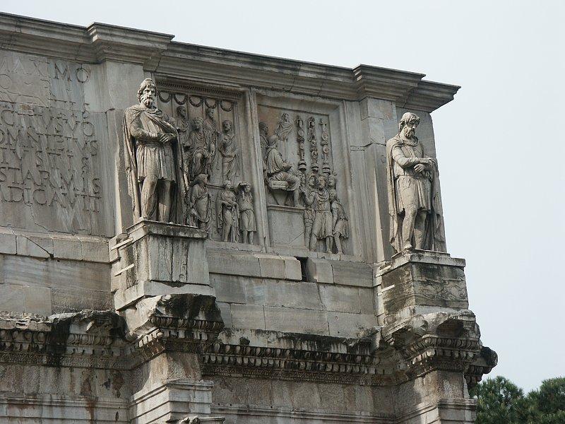 Arco de Constantino: cara norte
