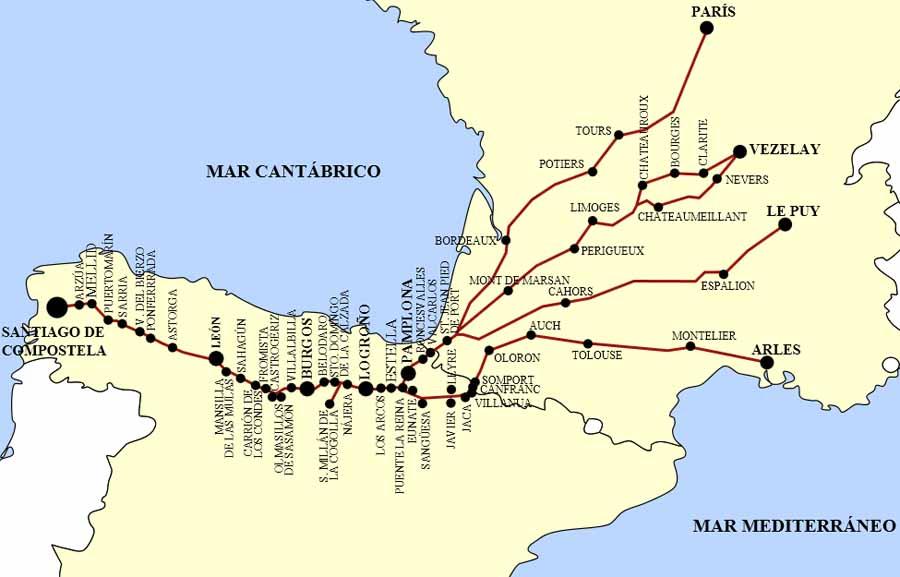 Resultado de imagen de ruta jacobea