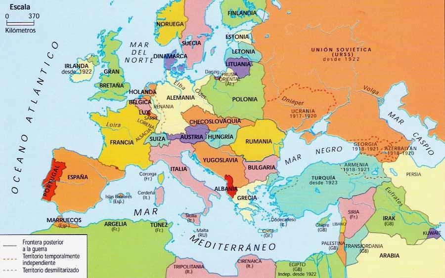 EUROPA EN 1930