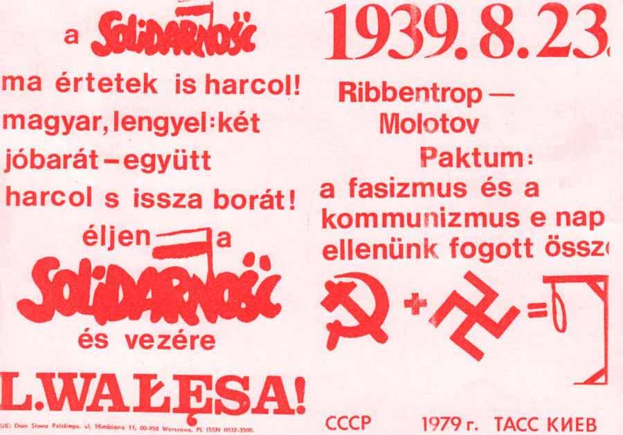 Ejemplo de propaganda anticomunista del Sindicato Solidaridad